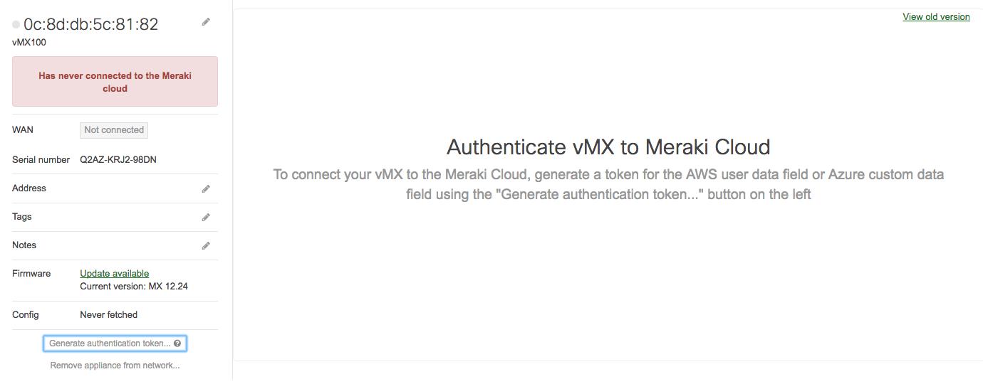 How to deploy a Cisco Meraki vMX100 into Microsoft Azure