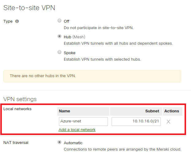 How to deploy a Cisco Meraki vMX100 into Microsoft Azure